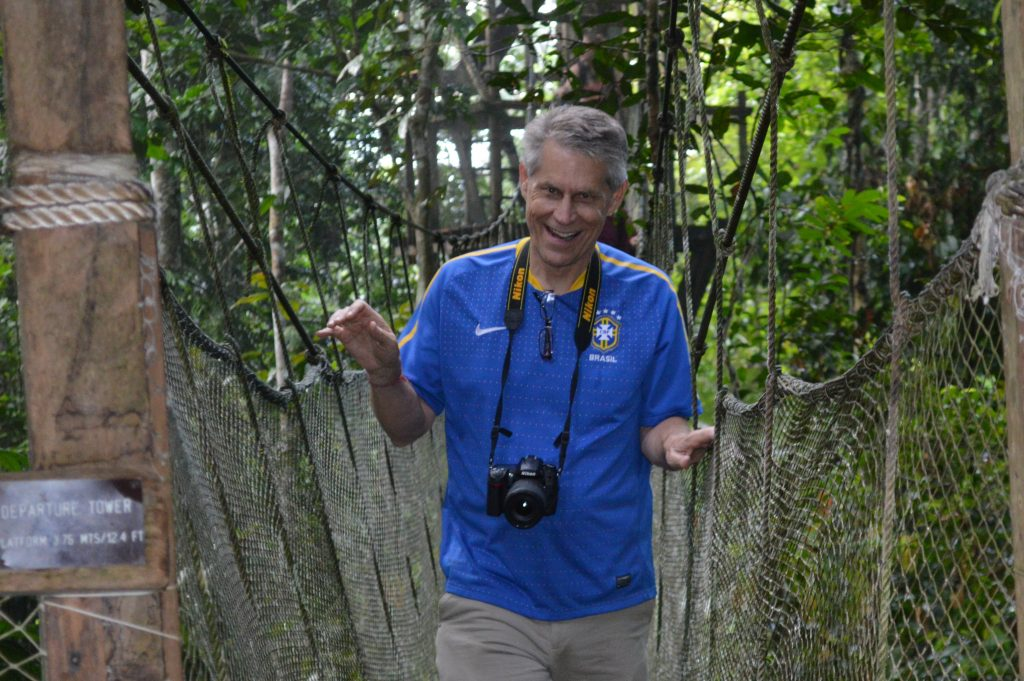 Educator at the ACTS canopy walkway